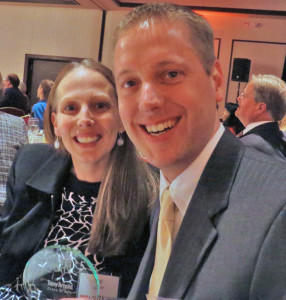 Jill and Tony Arnold at the Forty Under 40 Award Banquet