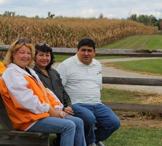 Glenna Murray and Maria & Norberto Sanchez take a break from the activities