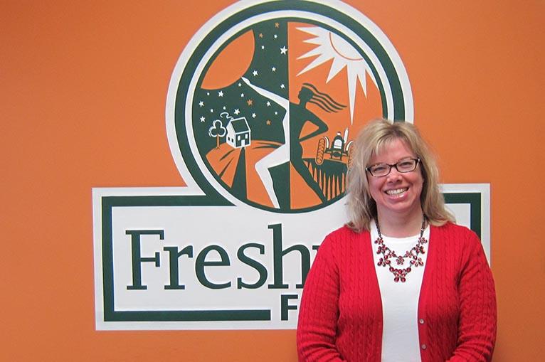 Traci Barlage, new customer service representative at Freshway Foods